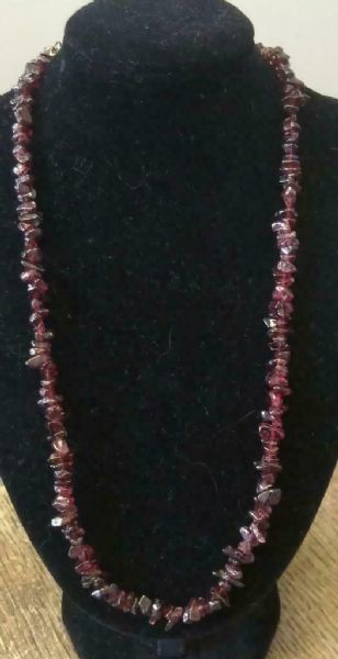 "Garnet Necklace 16"" to 34"", Long Necklace, Short Necklace"